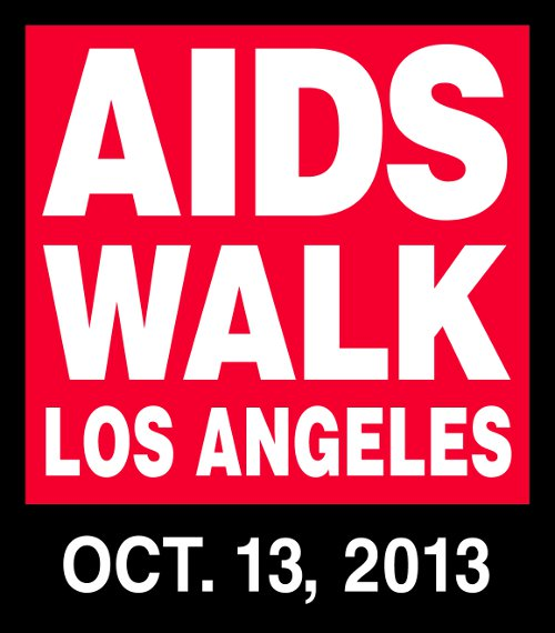 2013 AIDS WALK LA logo